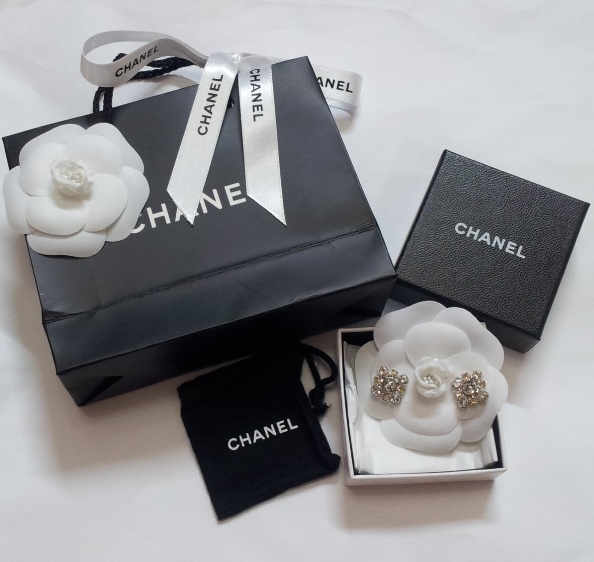 Chanel Crystal CC Logo Earrings 0, 870, Earrings, Chanel