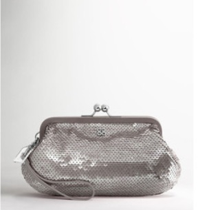 Coach Audrey Sequins Framed Large Wristlet - Grey 45389, 440, Wristlets, Coach