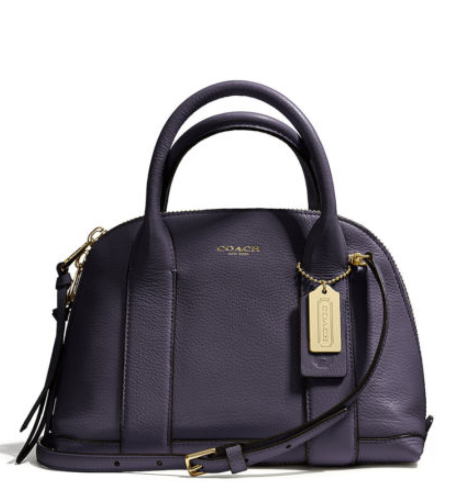 Coach Bleecker Mini Preston Satchel in Pebbled Leather - Ultra Navy 30143, 850, Handbags, Coach
