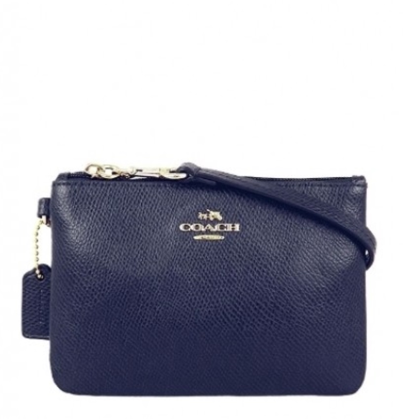 Coach Crossgrain Leather Small Wristlet - Midnight F52850, 230, Wristlets, Coach
