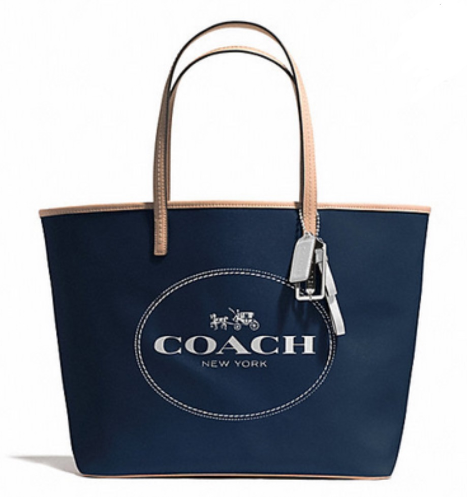 Coach Metro Horse And Carriage Tote - Navy F31315, 690, Handbags, Coach