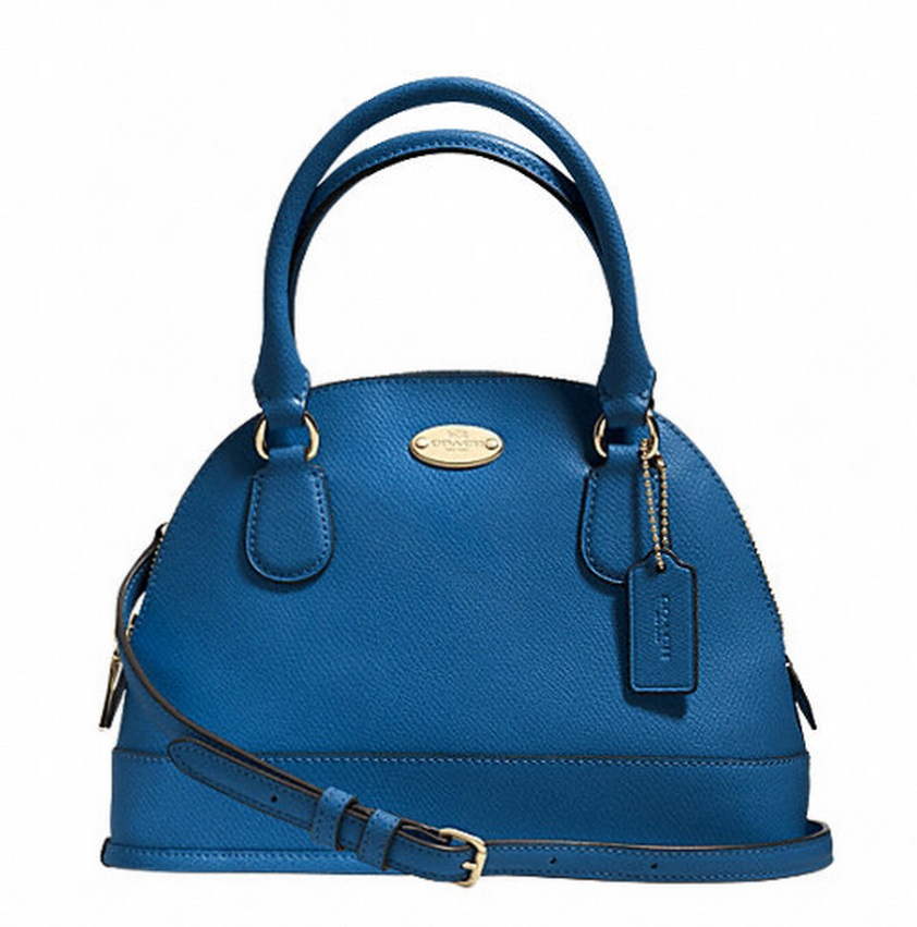 Coach Mini Cora Domed Satchel In Crossgrain Leather - Imden F34090, 620, Handbags, Coach