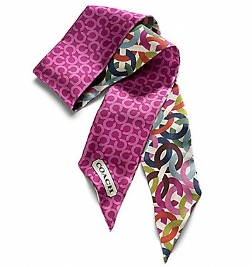 Coach Multi Chainlink Ponytail Scarf - Multicolor 83054, 180, Accessories, Coach