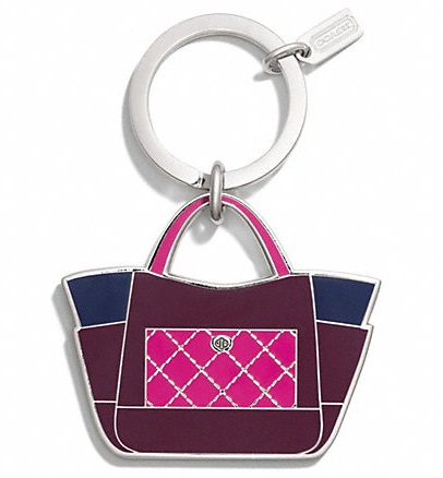 Coach Park Colorbloack Tote Key Ring - Multi F66661, 150, Accessories, Coach