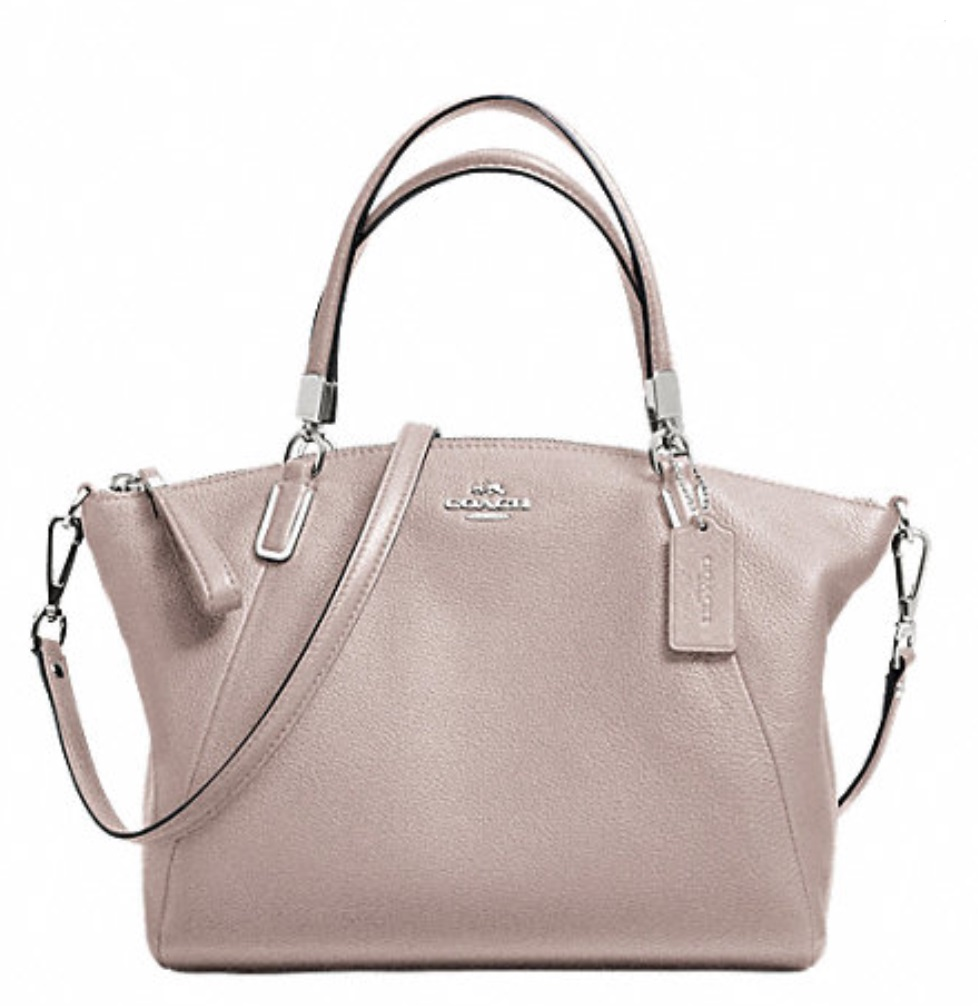 Coach Pebble Leather Small Kelsey Satchel - Grey Birch F34493, 890, Handbags, Coach