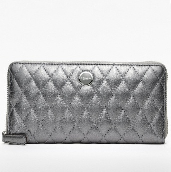 Coach Poppy Quilted Leather Accordion Zip Wallet - Anthracite 47885, 499, Wristlets, Coach