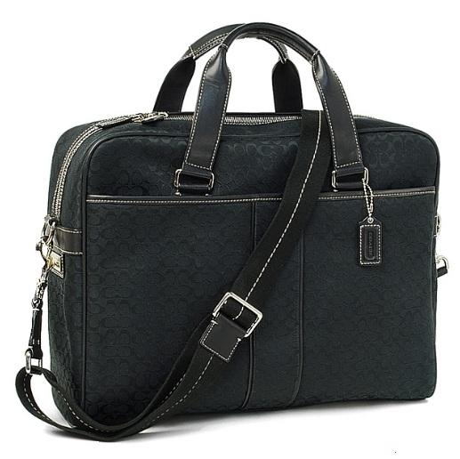 Coach Signature Hudson Computer Bag Black 70181 990 N A