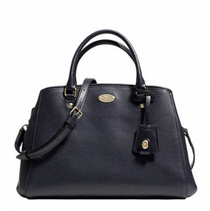 Coach Small Margot Carryall in Leather - Midnight F34607, 890, Handbags, Coach