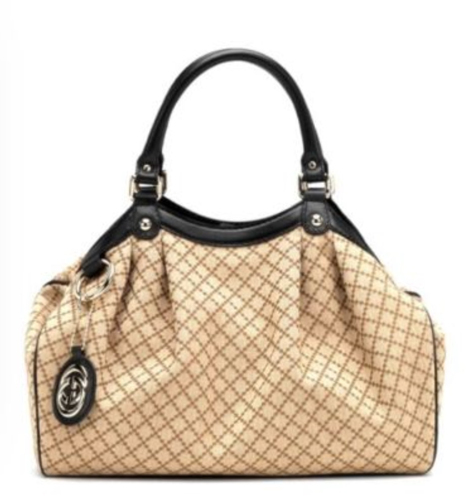 Gucci Diamante Large Sukey Tote - Beige Black 211944, 2990, Tote Bag, Gucci