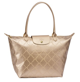LongChamp LM Medium Tote Long Handle - Pinky Gold 1899510-724, 510, LM 9e8b14c486