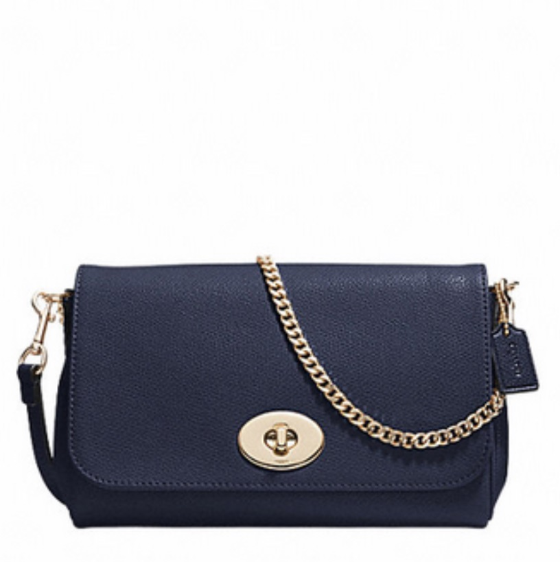 Mini Ruby Crossbody In Leather - Midnight F34604, 580, Handbags, Coach