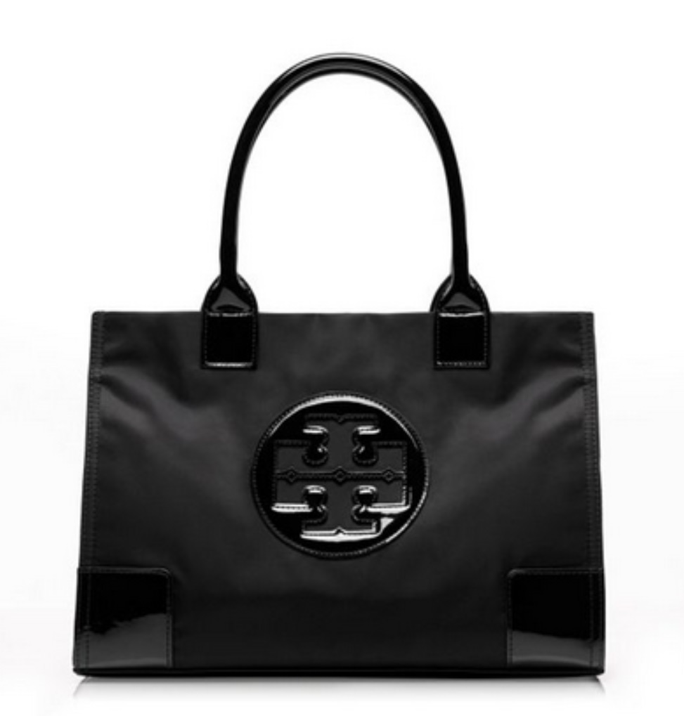 Tory Burch Ella Nylon Mini Tote - Black 50009813, 690, Tote, Tory Burch