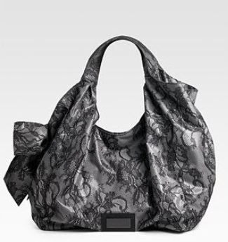 Valentino Lace Nuage Bow Large Tote - Black 7WB00873, 2590, Hobo, N/A